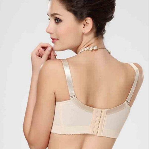 9c209311919a4 Women Push Up Bra Detachable Shoulder Belt Thin Mold Cup Bras Large Size-in  Bras from Underwear   Sleepwears on Aliexpress.com
