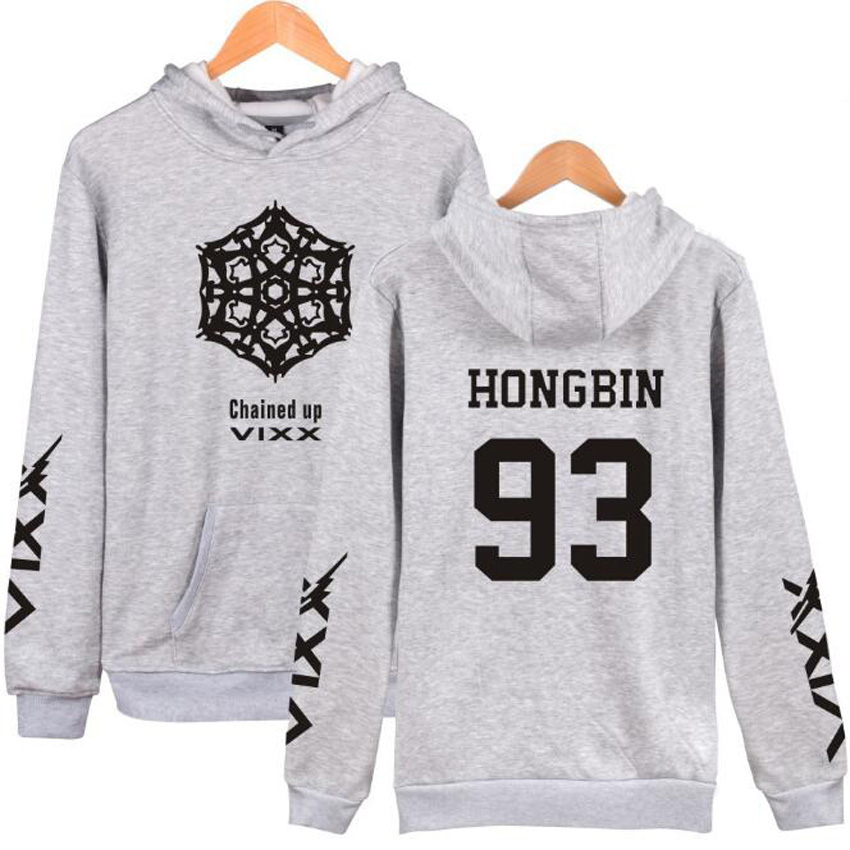 Korean K POP KPOP VIXX N HONGBIN LEO RAVI HYUK KEN Ulzzang Harajuku Sweatshirt Women Men K-POP Couple Hoodies Moletom Feminino