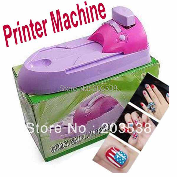 Nail Art Printer Diy Sting Printing Machine With 6 Metal Pattern Plates Care S In Equipment From Beauty Health On