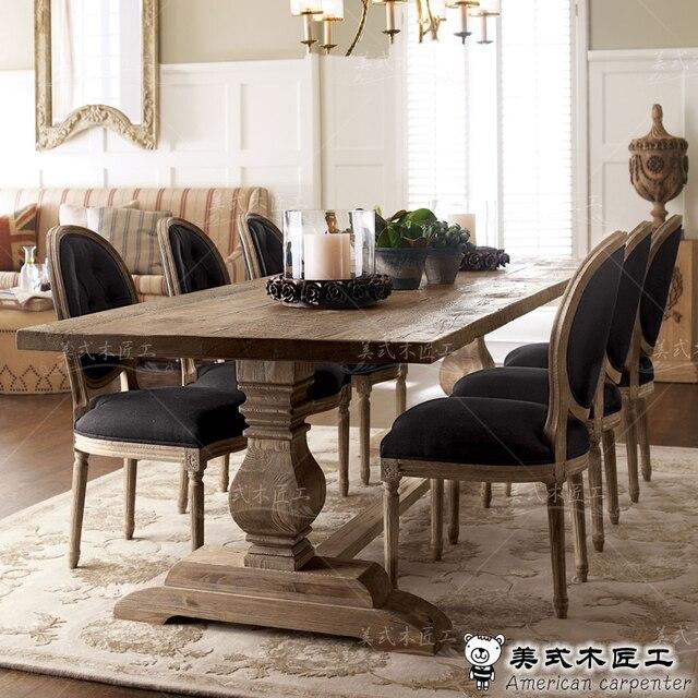 goedkope american houten eetkamer tafels en stoelen in een moderne ...