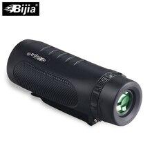 Bijia 10×32 мощной покрытием морских Водонепроницаемый Монокуляр BAK4 Призма телескоп с зажимом Зрительная труба