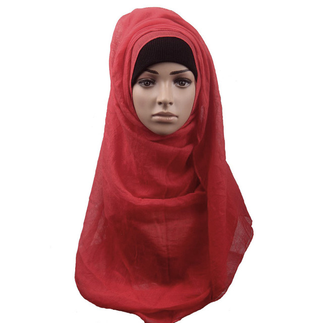 Fashion Muslim Women Shawl Scarf Headband Cover Headscarf Muffler high quality top brand muslim hijab women scarf