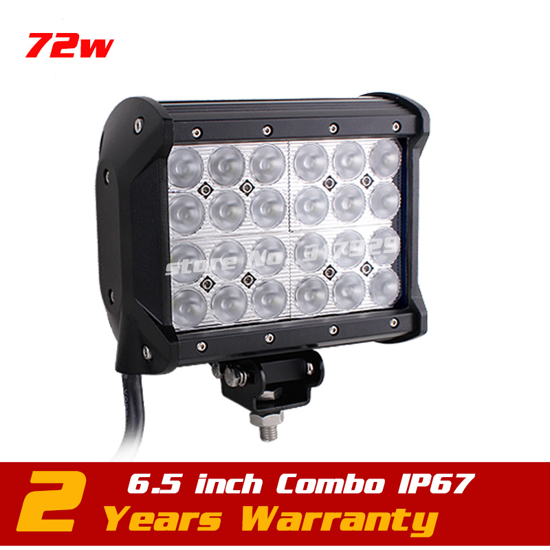 6.5 72w LED Work Light Bar 12v 24v Adjustable Bracket Truck Tractor ATV Offroad Fog Light LED Worklight Save on 126w 240W 22 inch led bar offroad 120w led light bar off road 4x4 fog work lights for trucks tractor atv spot flood combo led lightbars