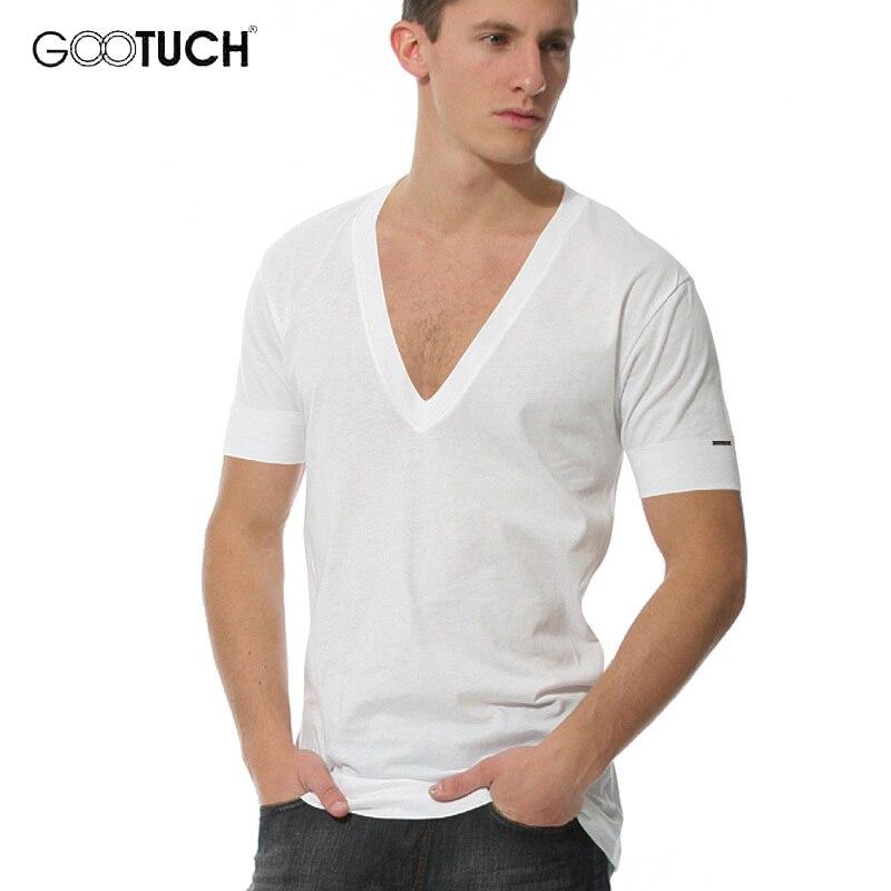 Летняя мужская футболка большого размера, белая футболка с коротким рукавом и глубоким треугольным вырезом, 4XL 5XL 6XL, 3003