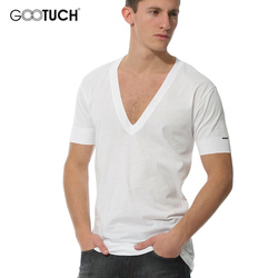 الرجال حجم كبير الملابس الداخلية قصيرة الأكمام العميق الخامس الرقبة الرجال تي شيرت أبيض مشروط 5XL 6XL 2020 الصيف مشروط الملابس الداخلية تيز 3003