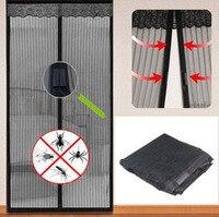 Magnetic Flying Insect Door Free Screen Curtain Mosquito Net Black For Special Door 2M Width 2