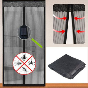 Magnetic Flying Insect Door Free Screen Curtain Mosquito net Black for special door 2M Width*2.4M HeightMagnetic Flying Insect Door Free Screen Curtain Mosquito net Black for special door 2M Width*2.4M Height