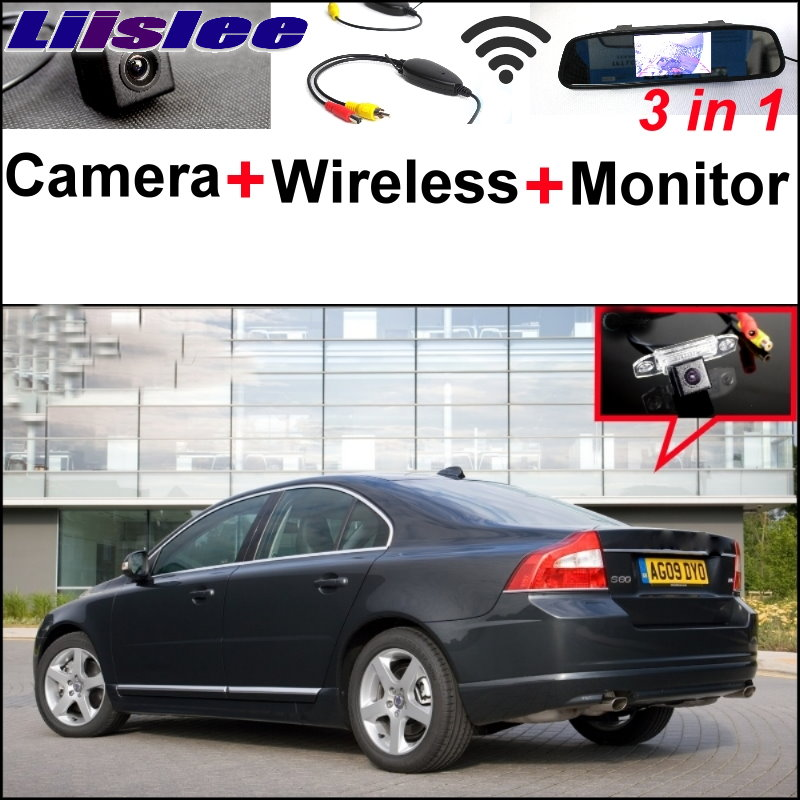 Liislee 3 in1 Special Rear View Wifi Camera + Wireless Receiver + Mirror Monitor Easy DIY Parking System For Volvo S80 S80L liislee 3in1 special rear view camera wireless receiver mirror monitor easy parking system for lexus ls430 celsior 2001 2017