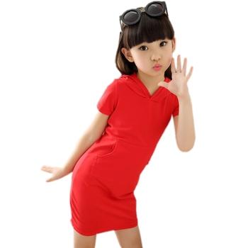 2019 gorąca sprzedaż 3 4 5 6 8 10 11 12 lat dziewczyny letnie dziecko styl na co dzień bawełna dla dzieci letnia dziewczęca sukienka tutu sukienki dla dziewczynek kapelusz tanie i dobre opinie Powyżej kolana Mini Stałe JK-976789 Krótki REGULAR Kieszenie Z kapturem COTTON Pasuje prawda na wymiar weź swój normalny rozmiar