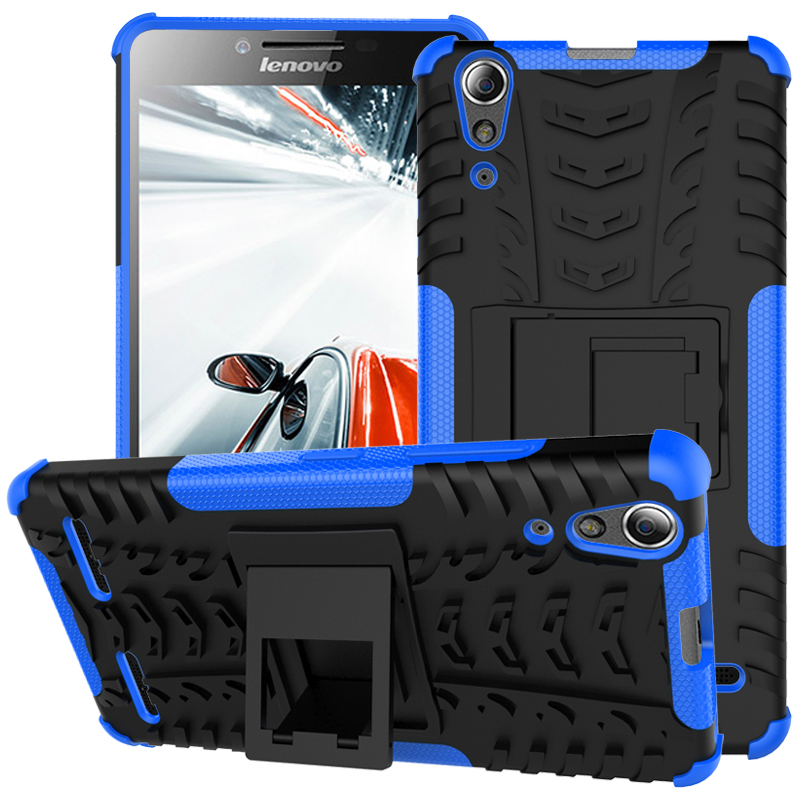 2 In 1 Heavy Duty Strong Rugged Armor Tire Style Hybrid TPU PC Hard Stand Bracket Case For Lenovo K3/A6000/A6000 Plus