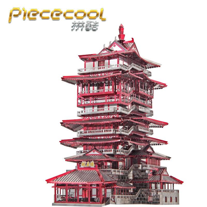 construcao de modelos 3d de metal nano enigma yuewang piececool torre kits modelo diy modelos de
