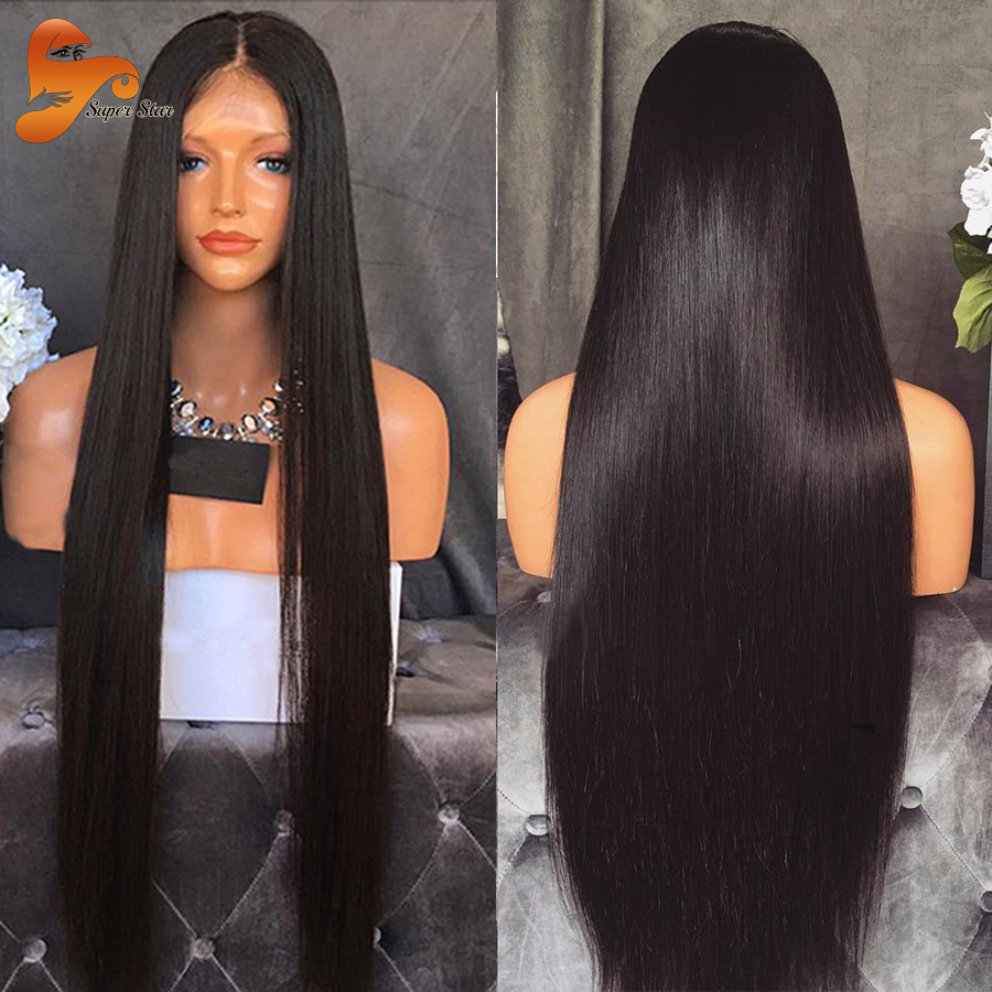 Straight Full Lace Human Hair Wigs For Black Women Lace