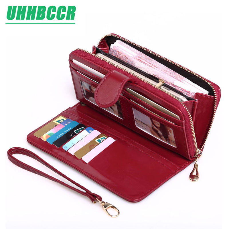 UHHBCCR Yellow Wallet Women Top Quality Leather Wallet Multifunction Female Purse Long Big Capacity Card Holders Purse Vallet