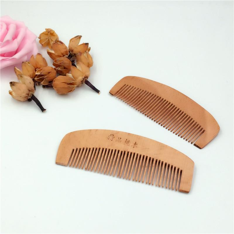 C45 Pêche peigne en bois anti-statique portable maquillage petit peigne mois peigne