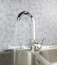 Новый кран Кухня латунь бассейна Раковина Поворотный 360 спрей Chrome смесителя бортике JN92303