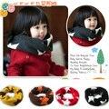 Invierno niño niños niñas caliente de acrílico de la redecilla bufanda bufandas pañuelo para el cuello 2-7Y