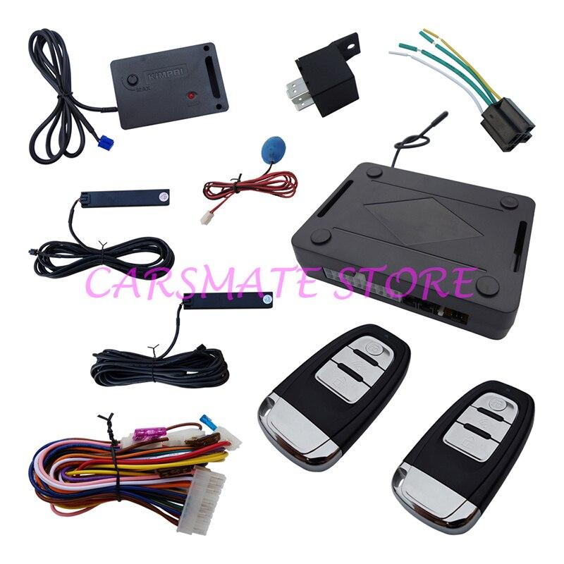 っUniversal PKE Car Alarm System Passive Keyless Entry Remote Lock ...