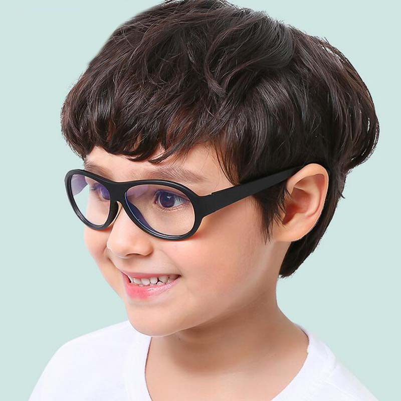 753a910441dc Comfort Baby Anti blue Light Silicone Plain Computer Glasses Brand Children  Soft Frame Goggle Glasses Kids Cat Eyes Eywear -in Eyewear Frames from  Apparel ...