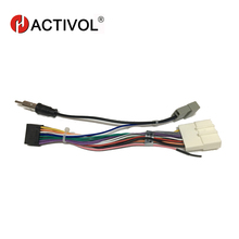 Car Radio Stereo Female ISO Plug Power Adapter Wiring Harness Special for  Nissan Tiida ISO harness power cable