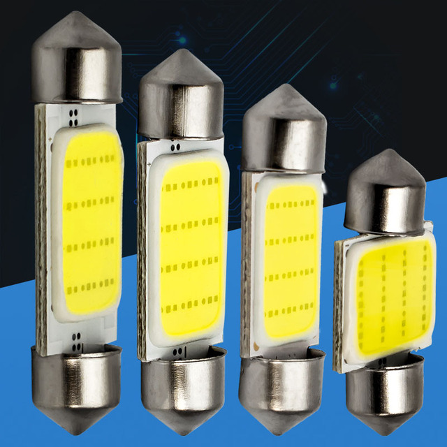 1pcs High Quality 31mm 36mm 39mm 41mm FESTOON 12 Chips COB LED Bulb C5W C10W Car Map Roof Lamp Auto Lights Xenon White DC 12V