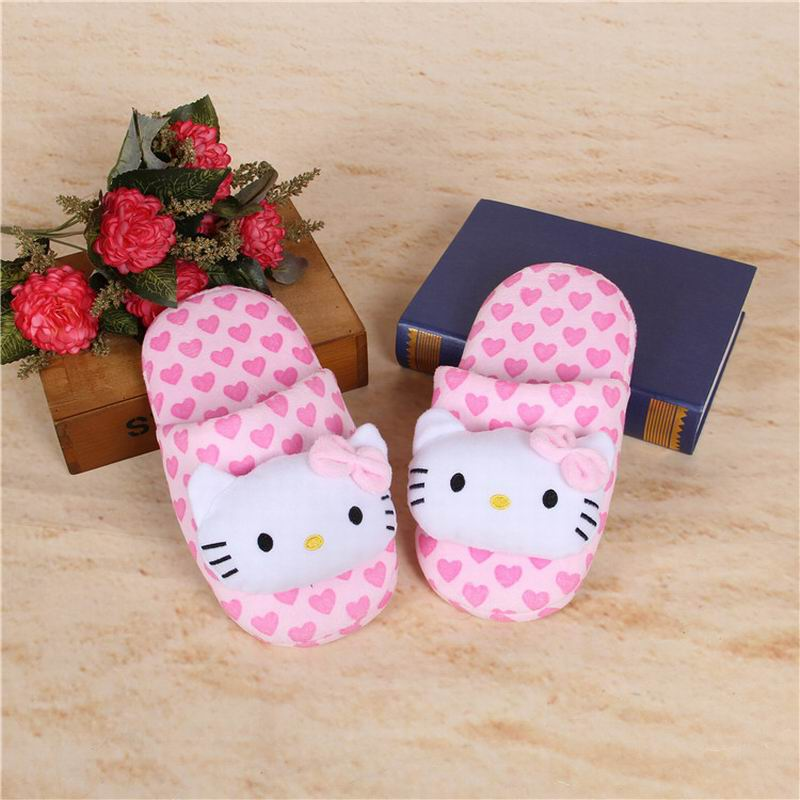 Pink Slippers Winter Hello Kitty Cute