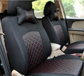 Car Seat Covers Grid embroidered Car Styling  car covers seat cover accessories Cover five kinds of colors to choose from