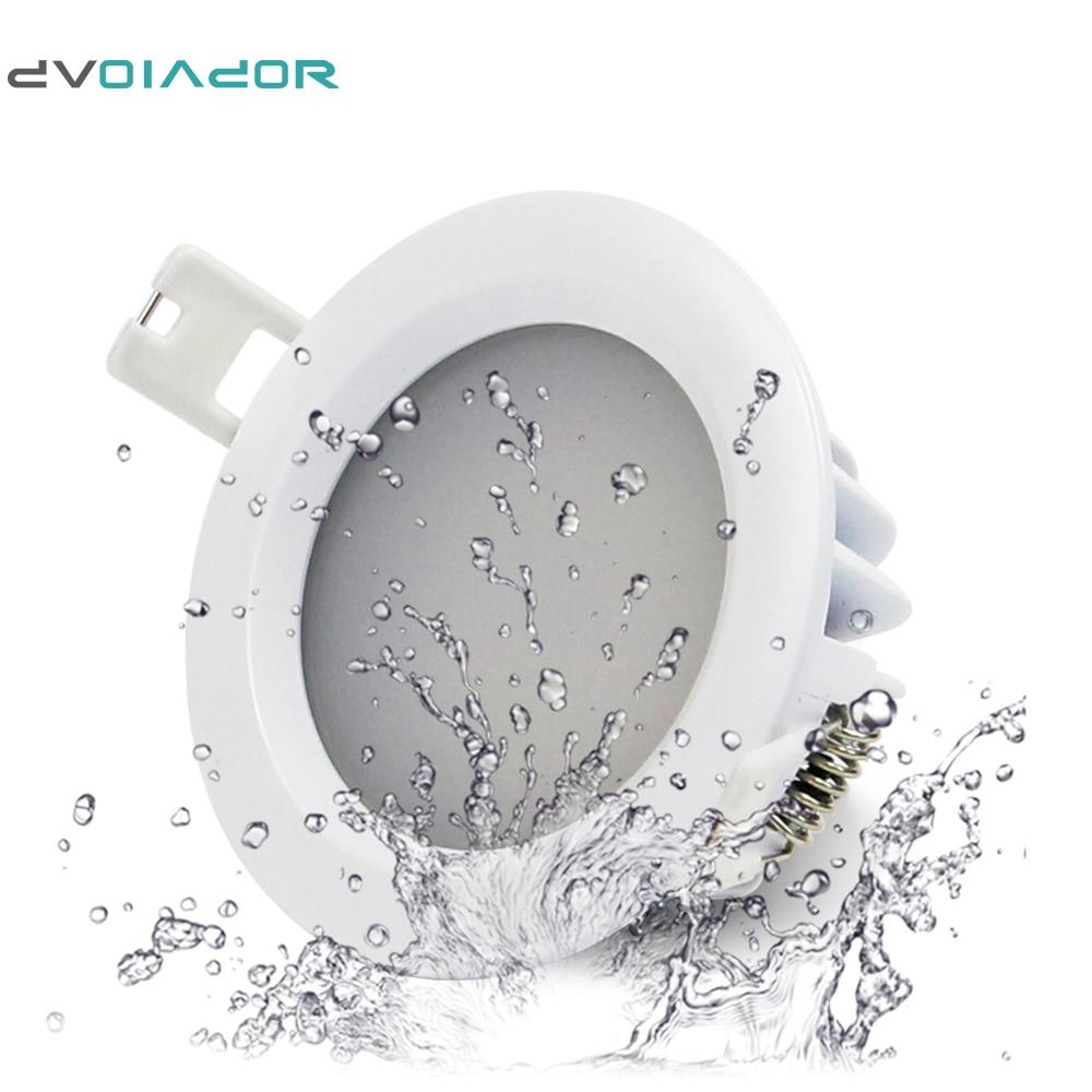 dvolador ip65 waterproof recessed led downlight ac 85v 265v 15w 12w 9w 7w 5w for bathroom. Black Bedroom Furniture Sets. Home Design Ideas