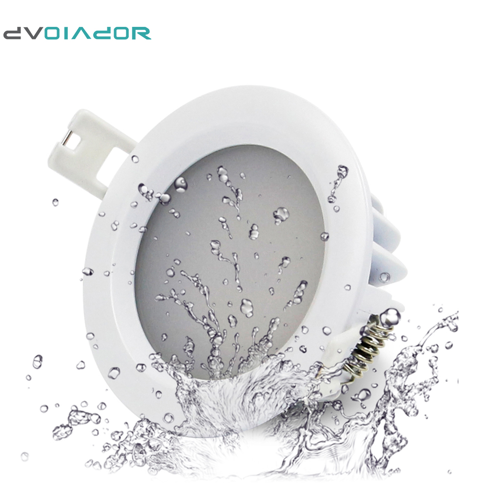 DVOLADOR IP65 Waterproof Recessed LED Downlight AC 85V 265V  15W/12W/9W/7W/5W For Bathroom Showeroom Outdoor LED Spot Light