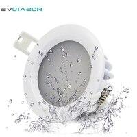 DVOLADOR IP65 Waterproof Recessed LED Downlight AC 85V 265V 15W 12W 9W 7W 5W For Bathroom