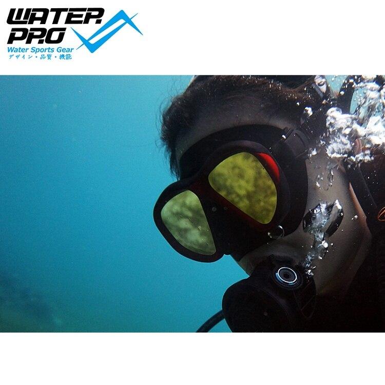 L'eau Pro Vyper Onyx Miroir De Plongée Masque de Plongée sous-marine
