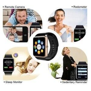 Image 4 - Bluetooth GT08 montre intelligente écran tactile grande batterie horloge Support TF carte Sim caméra Smartwatch pour IOS iPhone Android téléphone