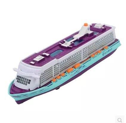 Vehicle toy Cruise model ship sound light pull back alloy simulation one pcs random type