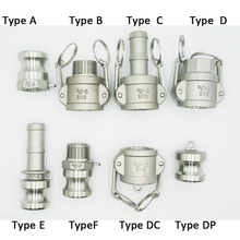 """1/2"""" DN15 Camlock Couplings  Stainless Steel   MPT FPT Barb Adapte Camlock Quick Disconnect For Hose Pumps Fittings"""