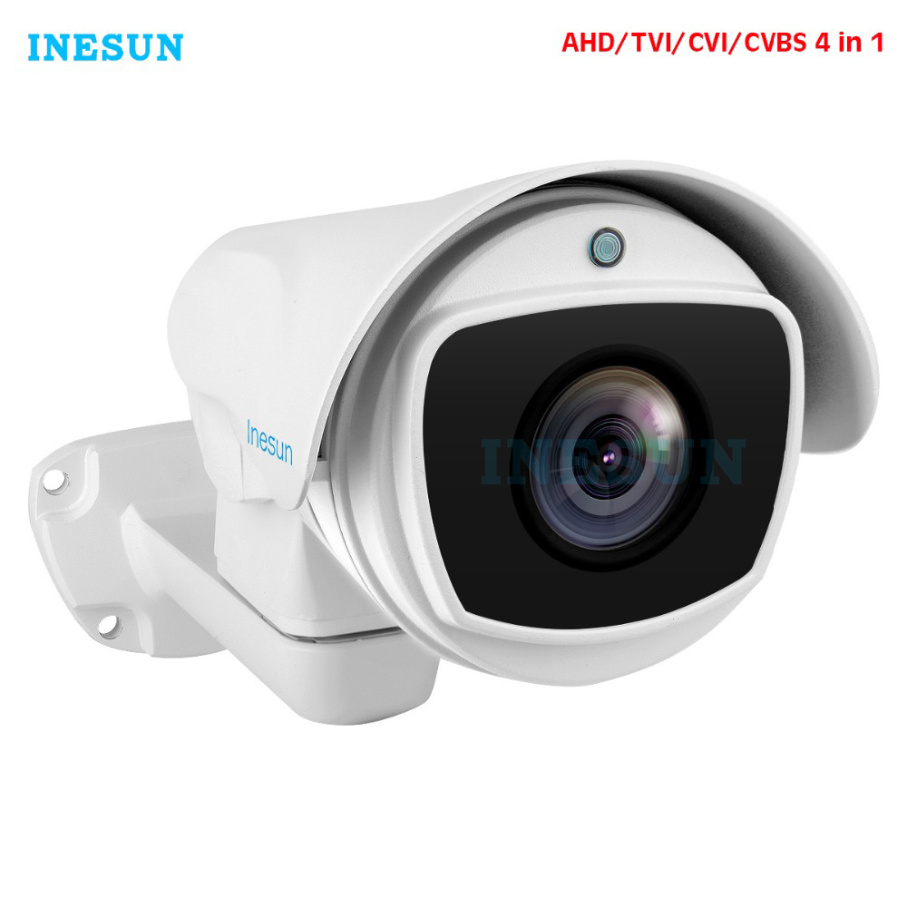 Inesun 4x/10x Optical Zoom PTZ Bullet Security Camera 2MP HD 1080P 4-in-1 AHD/CVI/TVI/CVBS Video Surveillance Camera Waterproof
