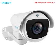 Inesun 4x/10x Optik Zoom PTZ Bullet Güvenlik Kamera 2MP HD 1080 P 4 in 1 AHD /CVI/TVI/CVBS Video Gözetim Kamera Su Geçirmez