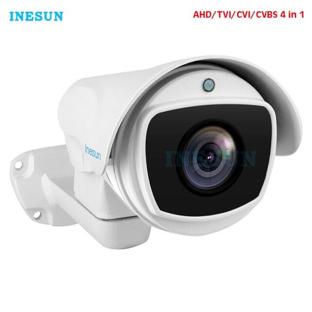 Inesun 4x/10x оптический зум PTZ Bullet Камера Безопасности 2MP HD 1080P 4 в 1 AHD/CVI/TVI/CVBS камера видеонаблюдения Водонепроницаемая