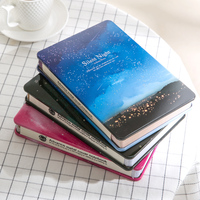 Korean Metal Cover Notebook Personal Diary Creative Kawaii Stationery Color Paper Blank Planner 2018 For Girls