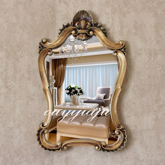 antique wall mirrors wall cladding large big resin decorative cosmetic antique wall mirror with frame royal stylevintage wedding gift