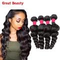 8A Brazilian Loose Wave Virgin Hair 4 Bundles Unprocessed Virgin Brazilian Hair Weave Bundles Annabelle Hair Loose Wave