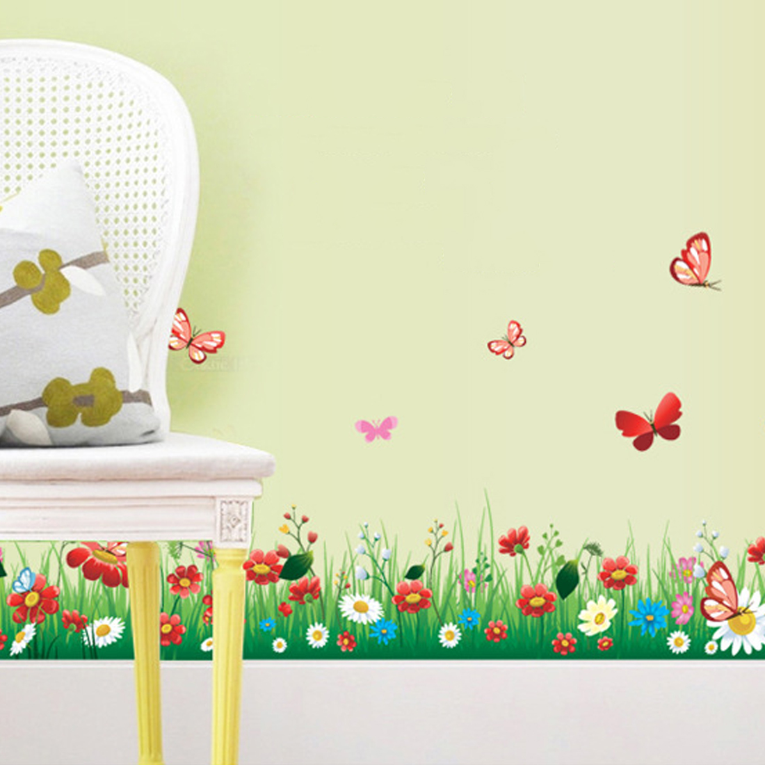 Good Qualit New Lovely flower butterfly wall stickers kids ...