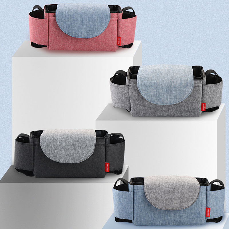 Baby Stroller Organizer Diaper Bag Waterproof Baby Stuff Diaper Changing Bag Cup Holder Carriage Pram Cart Bottle Bag