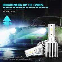NOVSIGHT Car H15 LED Bulb Headligh 60W 10000LM Wireless Car Headlight font b Lamp b font