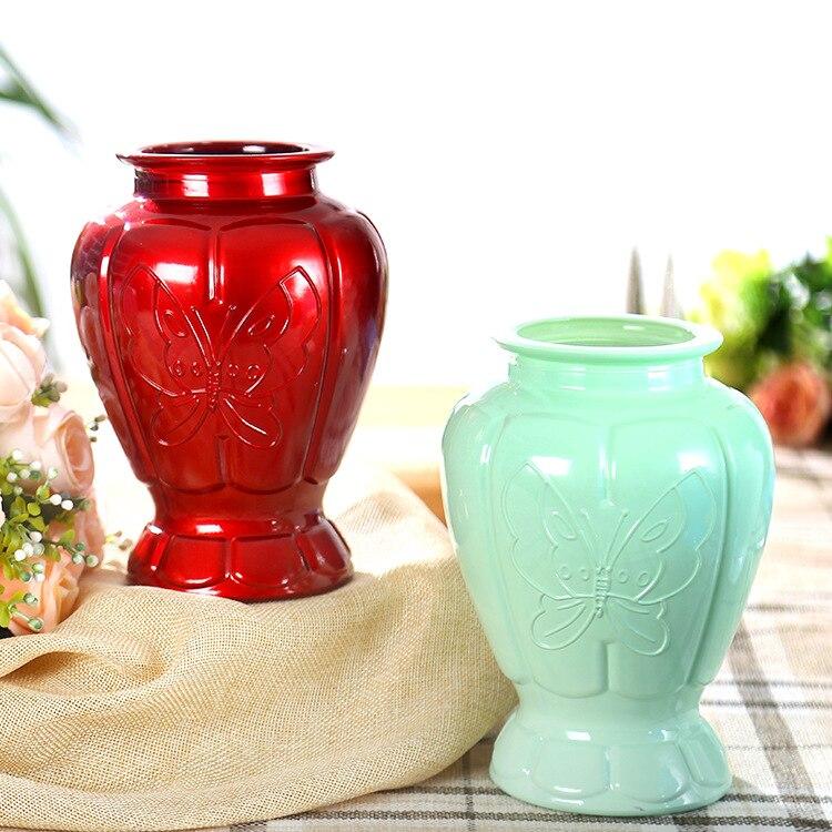 Европа Стиль Стекло цветок вазы Desktop современный хрустальные вазы Красочные бабочки Дизайн Стекло вазы для домашнего Свадебные украшения