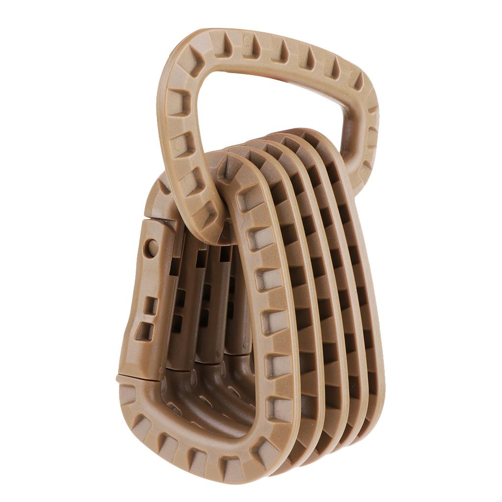 Image 3 - 6Pcs Tactical D Shape Carabiner Keychain Carabina Karabiner Clip Plastic Cadet Hiking Camping Climbing Accessories-in Climbing Accessories from Sports & Entertainment