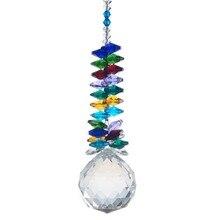 Suncatcher призмы хрустальные люстра довольно украшение частей подвески освещение мяч дома