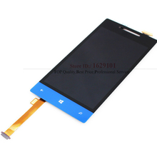 Full LCD Display +Touch Screen Digitizer Assembly For HTC 8S A620e Blue Color Replacement parts with LOGO, Free shipping
