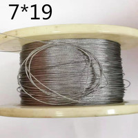 6mm, 10M, 7X19, 304 stainless steel wire rope softer fishing cable clothesline traction rope lifting lashing