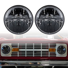 "Truck-Lite Style 7"" Round Heated LED Headlights with H4 to H13 for Jeep JK Wrangler 2 door to 4 door(China)"
