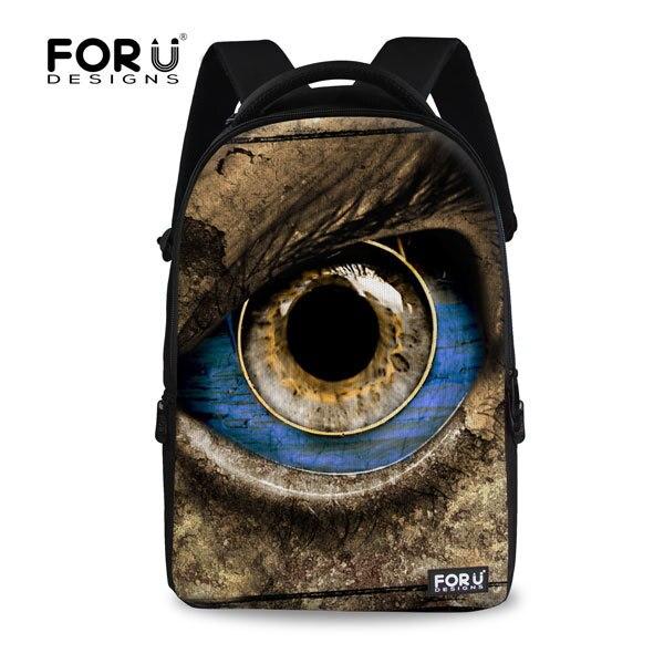 ФОТО 2017 new design big brown eyes school bags for women travel bag cute pet children school bags girls laptop canvas mochilas gift