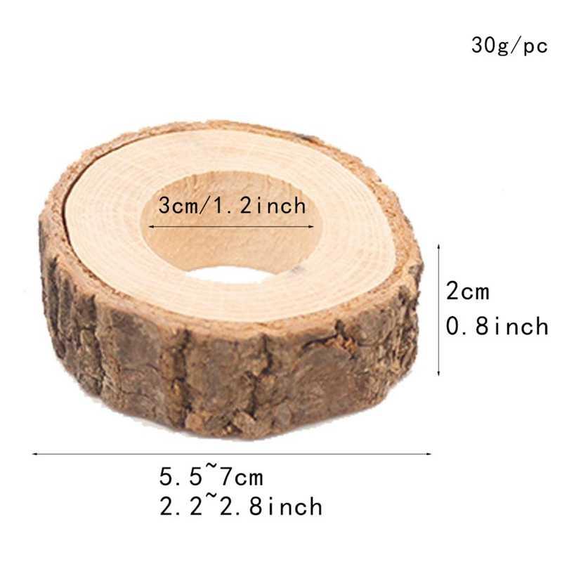 20X натуральное дерево пень ткань салфетки кольца для свадьбы Рождественский ужин украшения